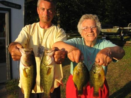 Bryon and Minnie Vogel caught these fish on a nearby lake, September 2008.