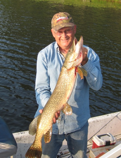 I caught and released this 36-inch pike on a nearby lake (Burnett County), July, 2019.