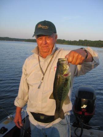 Dennis R. caught some nice bass on soft plastic baits, July 2013.
