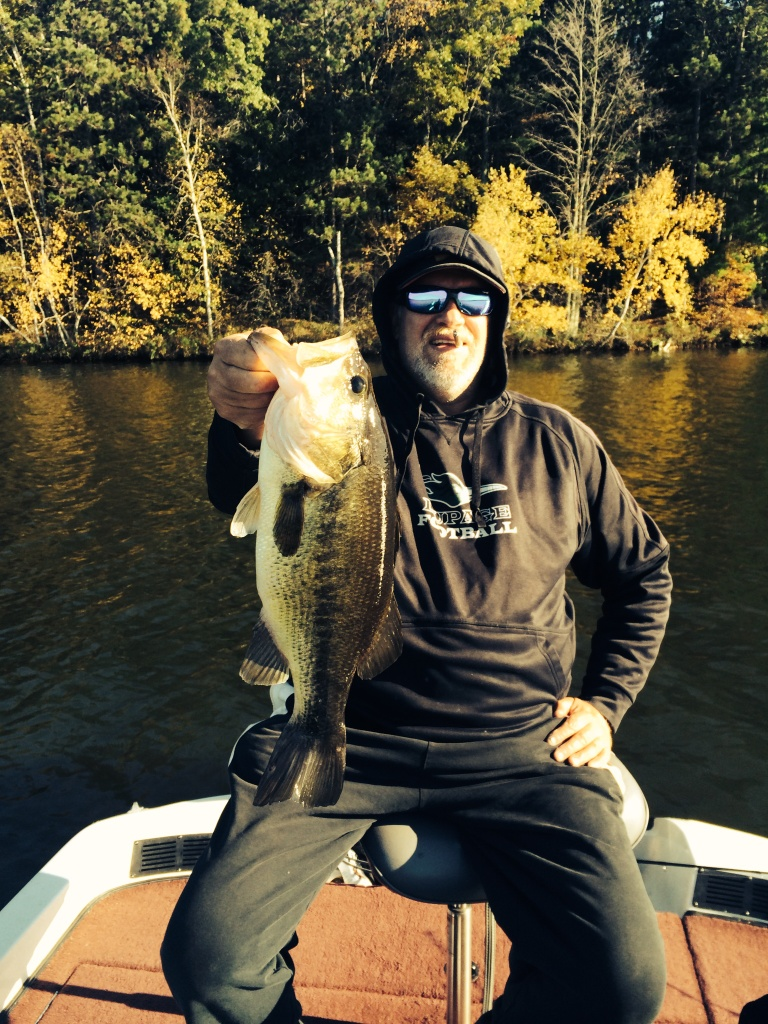 George C. with a nice largemouth from a nearby lake, October 2014.