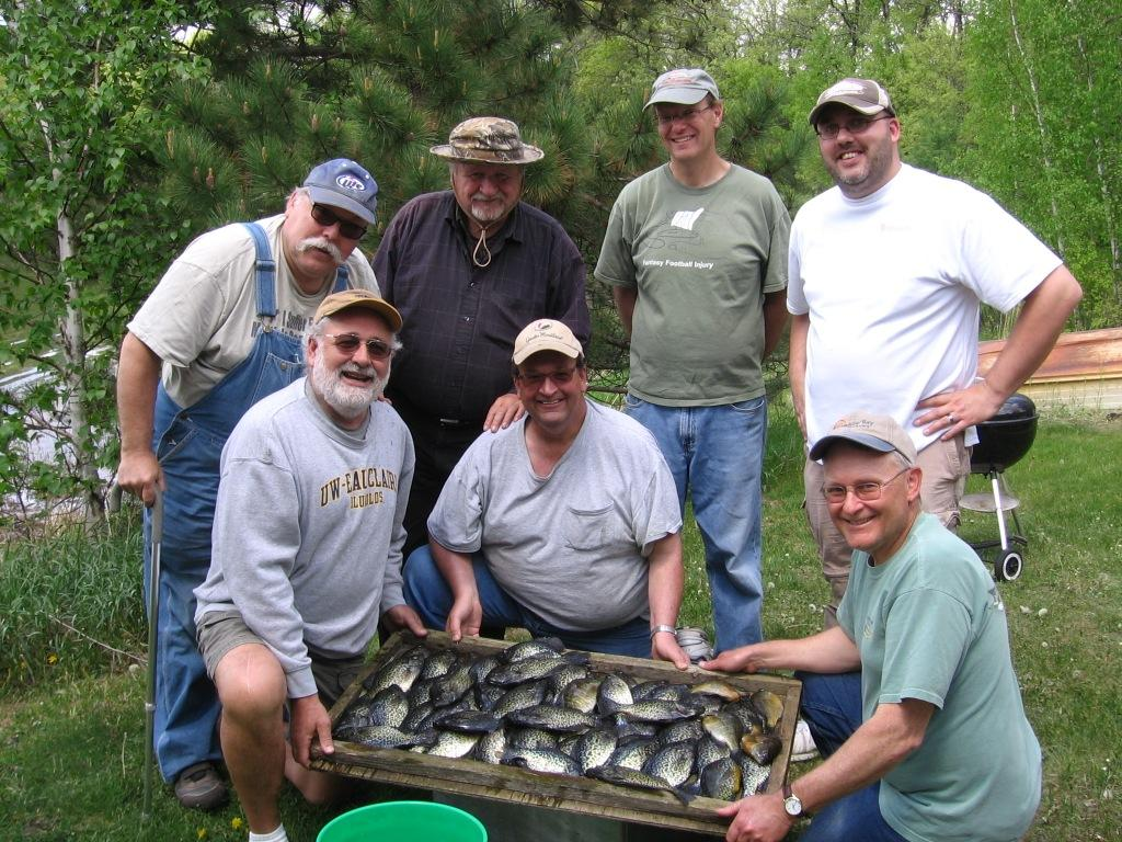The UW-Barron County Fishing Club paid a visit to our lake on May 20.  We caught these mostly in a shallow bay using minnows under a bobber.