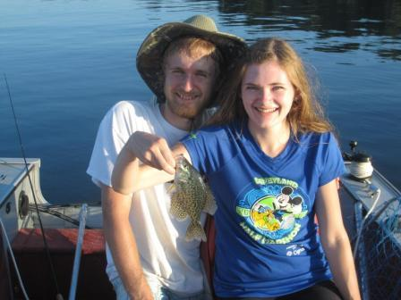 Ben and Jessica C. with a Benoit Lake crappie.
