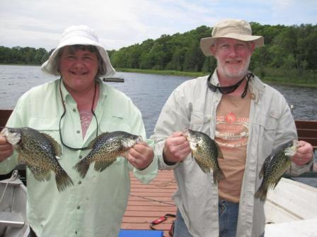Tina and Mike D. with some Benoit crappies, June, 2018.