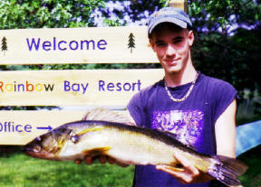 John B. and the other B. boys have caught some of the best walleye on our lake.