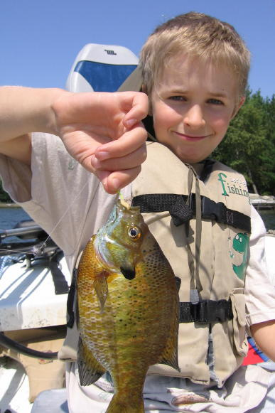 Ben got this nice gill in spring of 2007.  What a great day for this Dad.